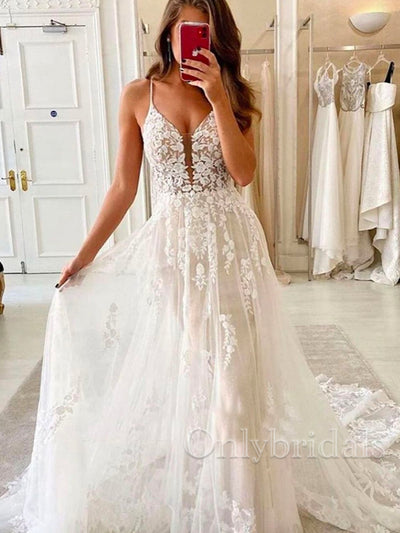 onlybridals romantic floral appliques wedding dress sleeveless tulle mermaid bridal gown - onlybridals