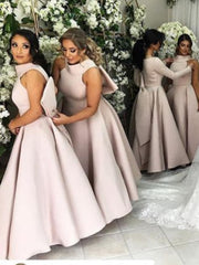 onlybridals Beauty Pink In Stock Bridesmaids Dresses Long Bow Wedding Party Dress Bridesmaids Dress