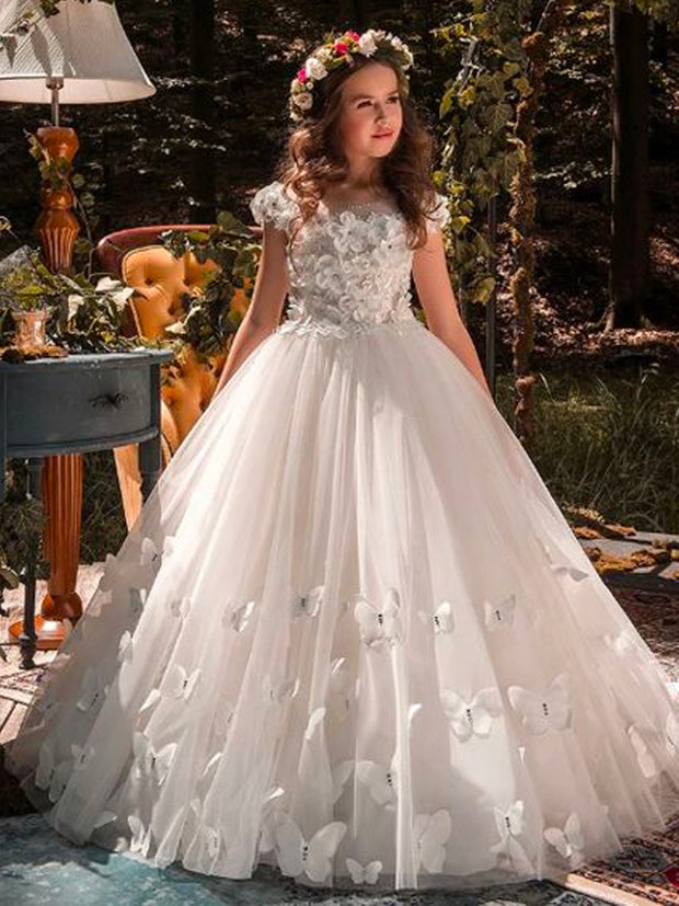onlybridals Lace Ball Gown Flower Girl Dress