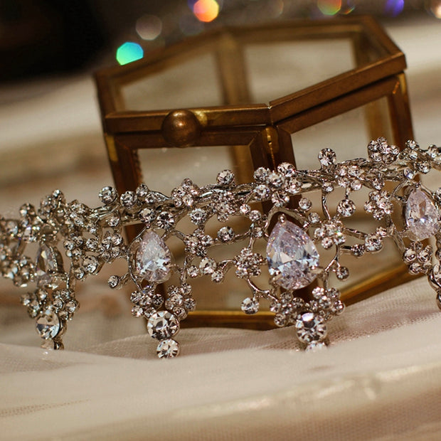 Chic / Beautiful Gold Bridal Jewelry 2020 Metal Rhinestone Wedding Accessories