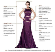 onlybridals Purple Beaded Two Piece Tulle A-line V neck Party Dress Long Prom Dresses
