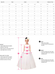 Princess Floor-length Black And White Flower Girl Dresses For Wedding Tulle Ball Gown Little Girls Formal Dresses