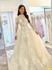 onlybridals  White lace long ball gown dress wedding dress