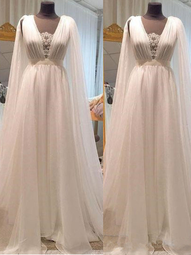 Vintage Bohemian Wedding Dresses 2021 Modest With Sheer Neckline A Line Lace Tulle Boho Country Bridal Gowns Vestidos De Noiva