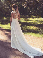 onlybridals  Boho Wedding Dresses Sexy Lace Side Split Modern Wedding Dress Beach White Ivory Bridal Gowns - onlybridals