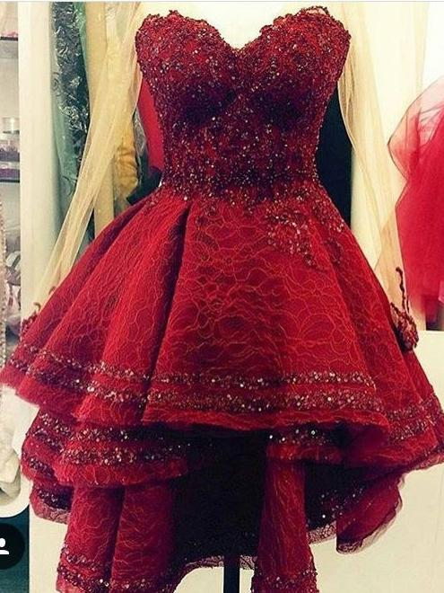 Sparkly Homecoming Dresses Lace Sweetheart Beautiful Short Prom Dress Party Dress JK716 - onlybridals