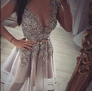 Sparkly Homecoming Dresses Beading A line Sexy Short Prom Dress Party Dress JK765 - onlybridals