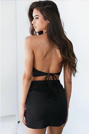 Two Piece Homecoming Dresses Little Black Dress Short Prom Dress Fashion Party Dress JK859 - onlybridals