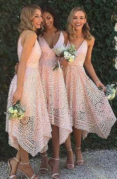 onlybridals Short Bridesmaid Dresses Dark Navy Spaghetti Straps Sexy Bridesmaid Dresses - The Only Love Wedding Dress