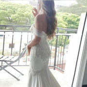 Trumpet/Mermaid Wedding Dresses Sexy Appliques Beading Sweetheart Bridal Gown JKW074 - onlybridals