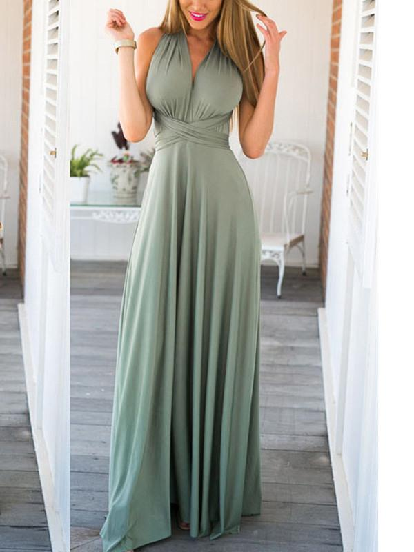 onlybridals simple prom dresses A-line Scoop Floor-length Chiffon Prom Dress/Evening Dress - onlybridals