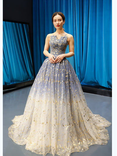 2020 new style host wedding dress slim Taut tail with floral ribbon dinner bridesmaid's evening dress