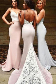 onlybridals Straps Backless Mermaid Bridesmaid Dresses, Wedding Party Dress