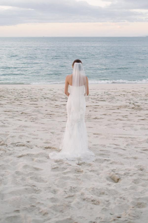 onlybridals White Lace Mermaid Sweetheart Off Shoulder Beach Wedding Dresses - onlybridals