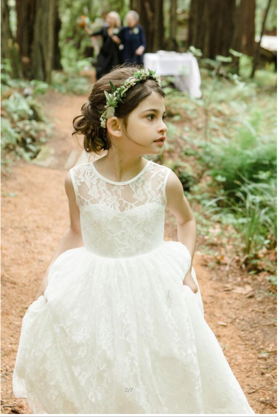 Tea Length Tiered Tulle Skirt Flower Girl Dress Sewing Pattern - The Only Love Wedding Dress