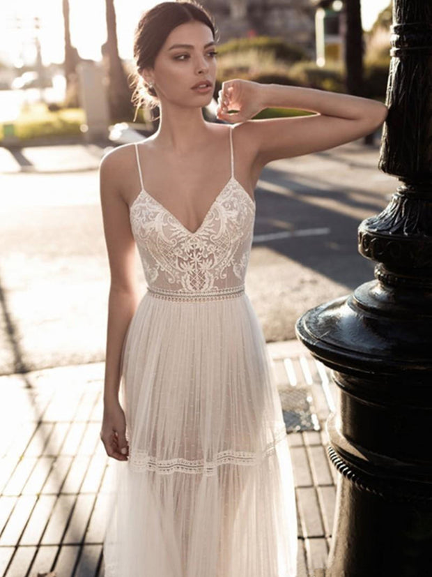onlybridals Sexy Wedding Dress A-Line Appliques Off The Shoulder Bride Dress Custom Made Wedding Gown - onlybridals