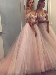 onlybridals Pink Wedding Dress Off The Shoulder Sweetheart Bridal Dress Backless Wedding Gowns - onlybridals