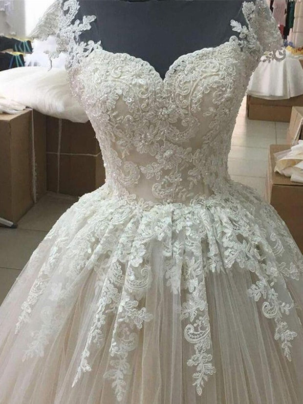 onlybridals Luxury Lace Ball Gown Wedding Dress Princess Bride Bridal Dress Gown Weddingdress