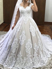 onlybridals Lace Vintage Ball Gown Wedding Dresses Sweetheart Off Shoulder Sexy Appliques Wedding gown Bridal Dress - onlybridals