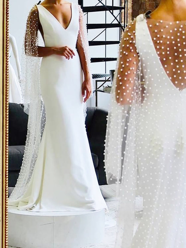 onlybridals Mermaid Wedding Dresses Long Boho Weeding Dress Elegant Wedding Gowns - onlybridals