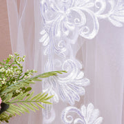 onlybridals 3m One Layer Wedding Veil With Comb White Lace Edge Bridal Veils Ivory Appliqued Cathedral Wedding Veil