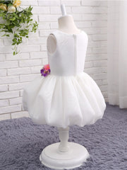 onlybridals White Flower Girl Dresses for Weddings Pageant Ball Gown Puffy Flowers Tank First Communion Dresses Prom Dress for Kids - onlybridals