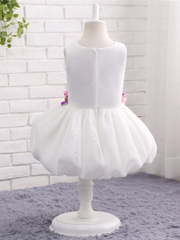 onlybridals White Flower Girl Dresses for Weddings Pageant Ball Gown Puffy Flowers Tank First Communion Dresses Prom Dress for Kids