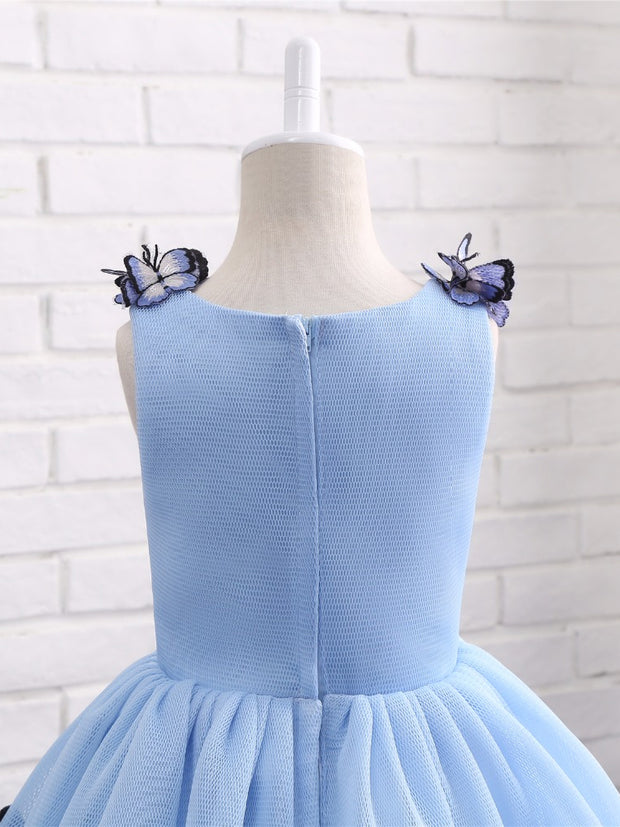 onlybridals Lovely Baby Blue Pageant Ball Gown Flower Girl Dresses for Weddings First Communion Dresses Prom Dress Evening Gown