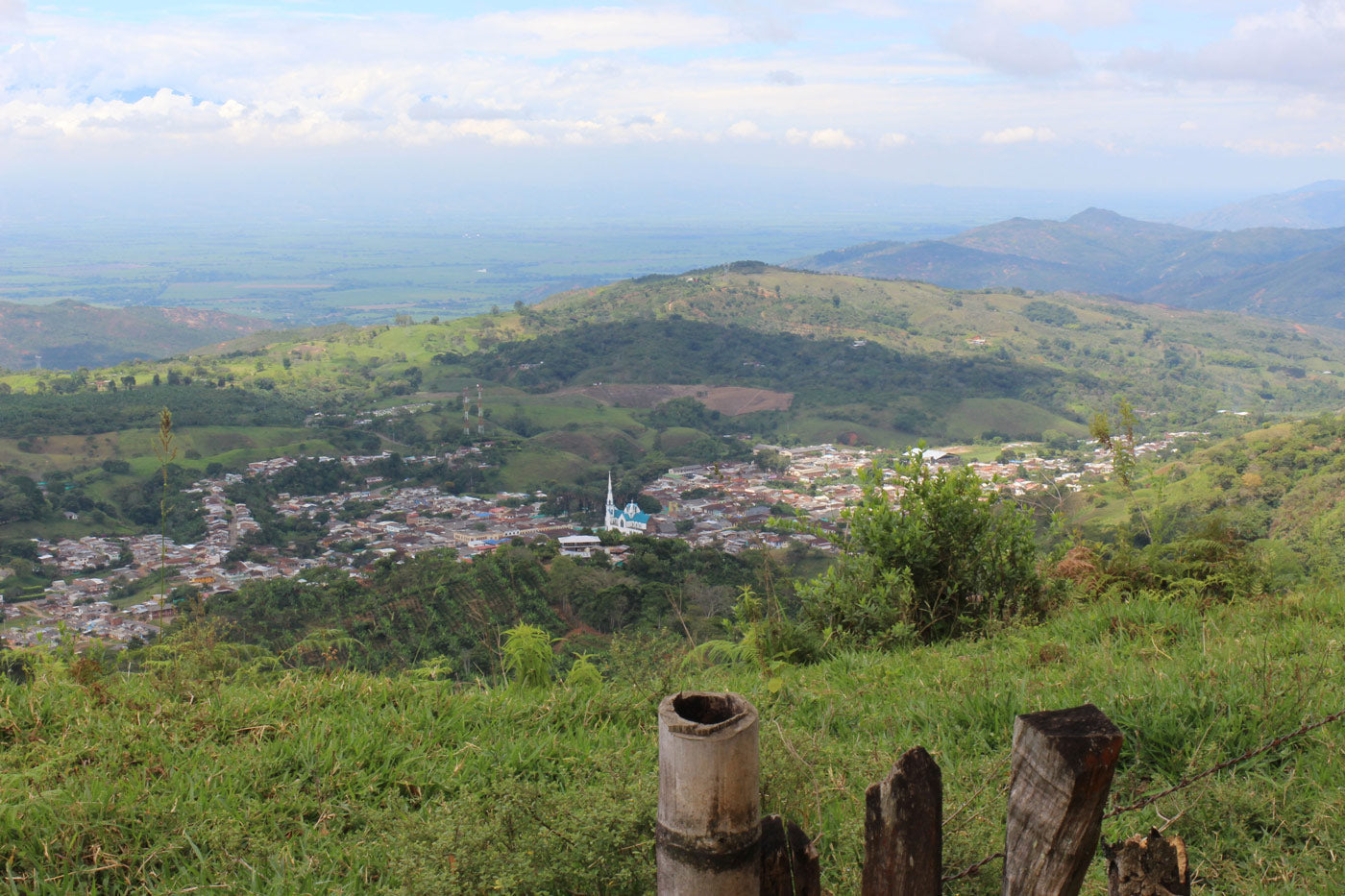 The town of Trujillo from the surrounding hills