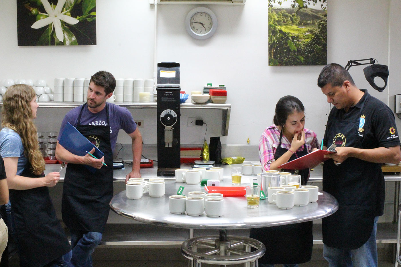 The cupping lab in Caicedonia