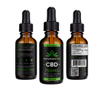 CBD Oil Tincture Drops 30mL Natural 750mg - HemptopiaCBD