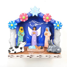 Load image into Gallery viewer, Medium Clay nativity scene (bright)