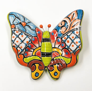 Med talavera butterfly (lime green)