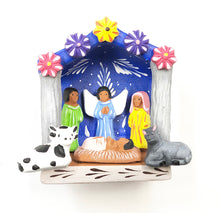 Load image into Gallery viewer, Small Clay nativity (bright)