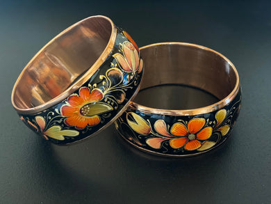 Black copper bracelet (autumn)