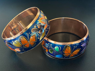 Blue copper bracelet (butterfly)