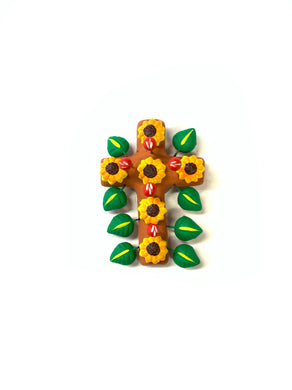 Sun flower cross
