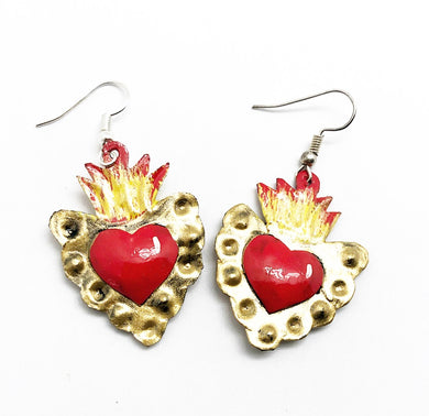 Tin earrings (h-d1)