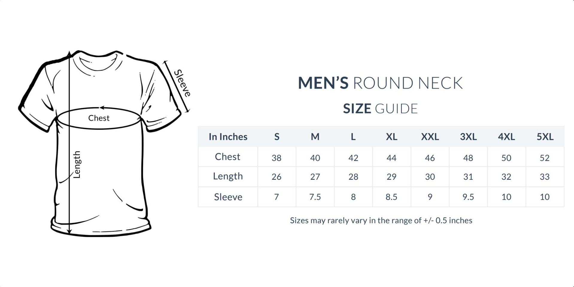 Image of Sizing Chart for Men