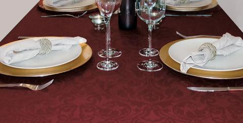 Elegant holiday meals deserve elegant table coverings