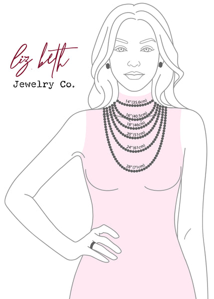 Necklace Sizing, Jewelry Sizing, Necklace Measurement, Liz.Beth Jewelry Co.
