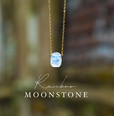 Moonstone Necklace, Raw Crystal Necklace