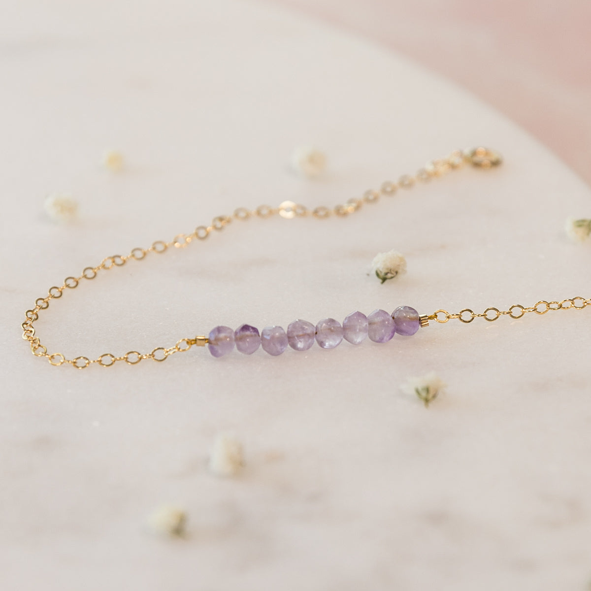 Amethyst Jewelry, Bridal Party Jewelry, Amethyst Bracelet, Crystal Bracelet, Healing Crystal Jewelry, February Birthstone Gift For Her, Dainty Celestial  Bracelet, Minimal Bracelet, Bohemian, Gemstone Bracelet, Crystal Bracelet Liz.Beth Jewelry Co.