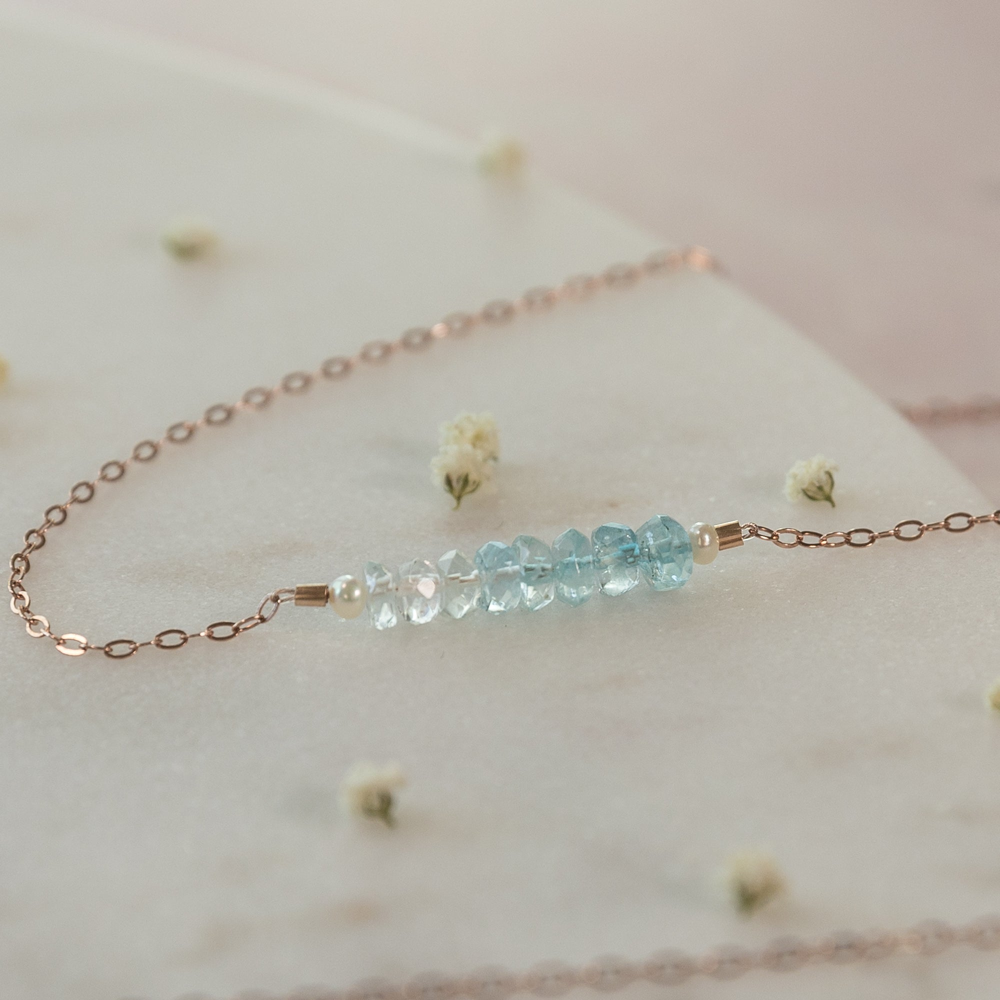 Aquamarine Ombré Necklace