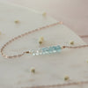Dainty Blue Aquamarine Ombré Necklace
