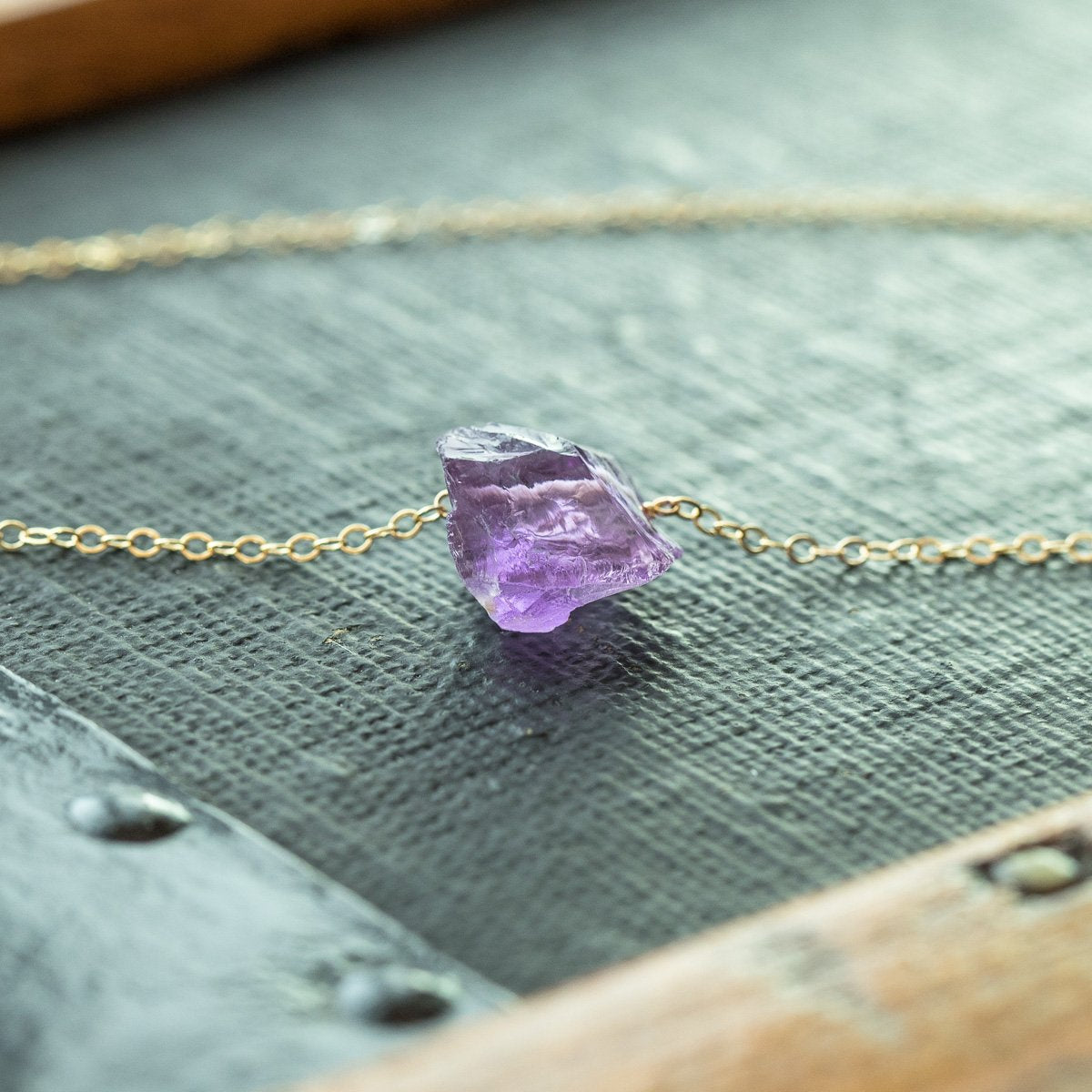 Raw Amethyst Necklace | Liz.Beth Jewelry Co.