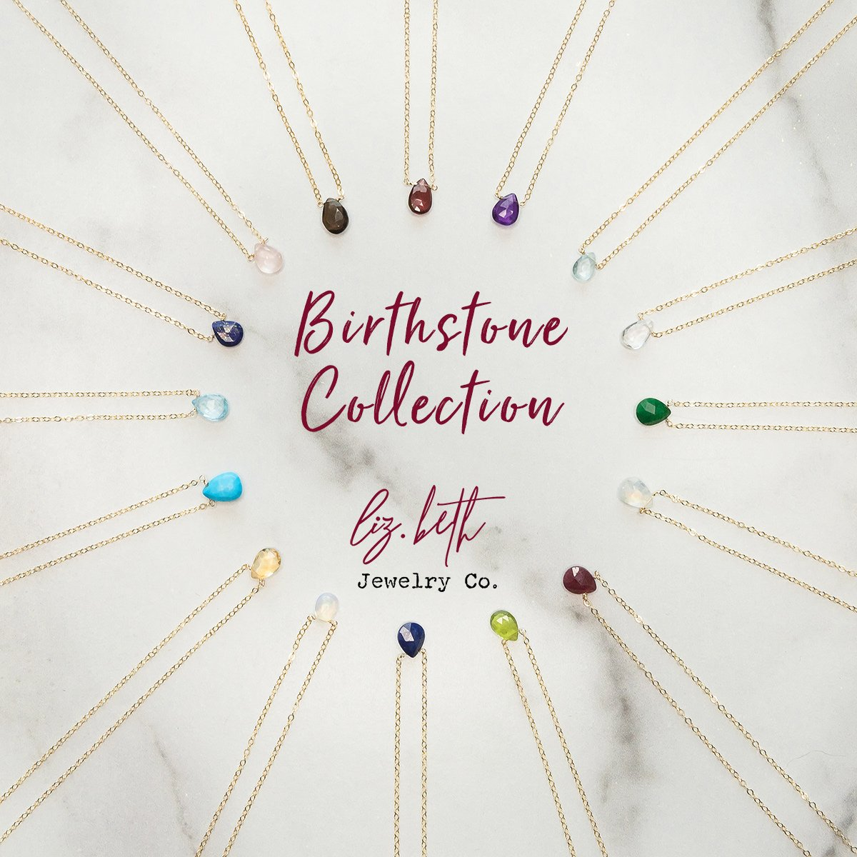 Birthstones by Month, Birthstone Chart, Birthstone Collection, Birthstone Colors