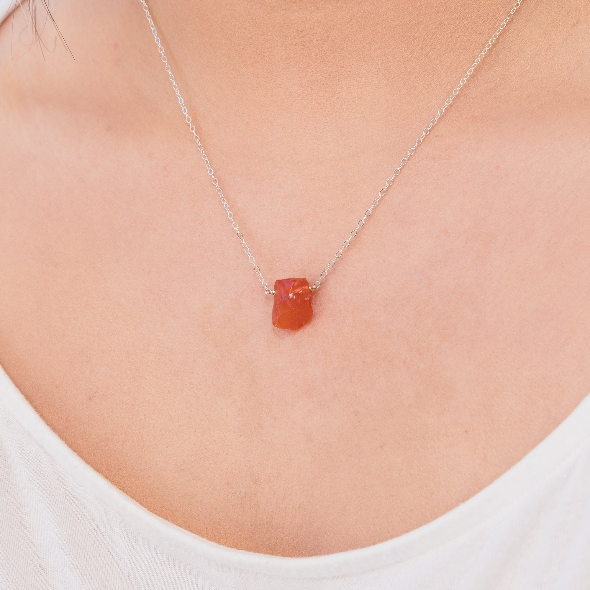 Raw Carnelian Necklace