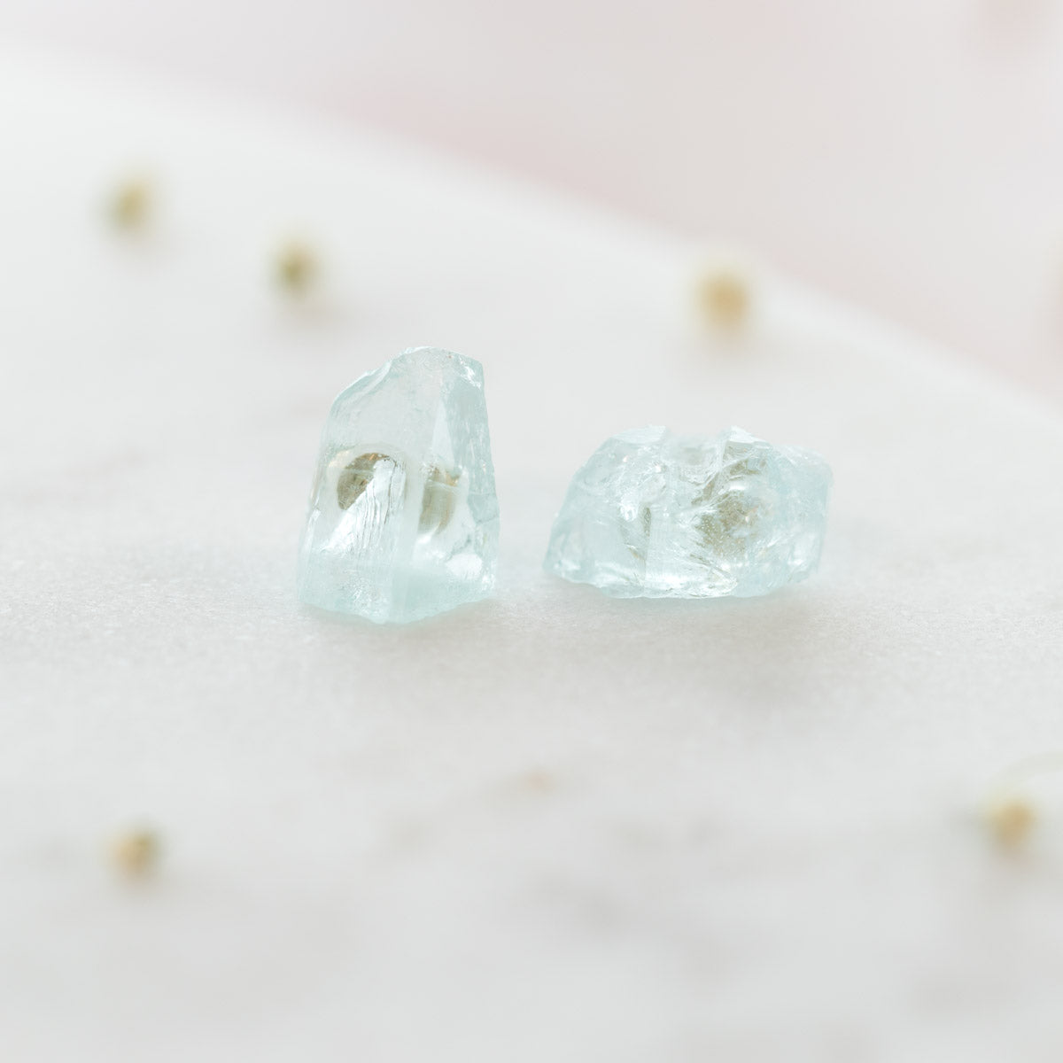 Aquamarine Earrings, Raw Aquamarine Earrings, Gold Aquamarine Earrings, Natural Aquamarine Earrings, Aquamarine Stud Earrings, Gemstone Earrings, Liz.Beth Jewelry Co.
