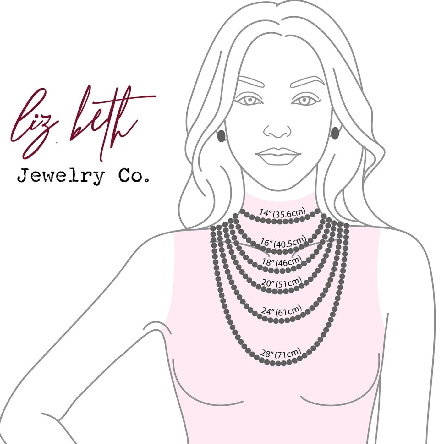 Necklace Lengths, Necklace Measurements | Liz.Beth Jewelry Co.